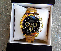Легендарные кварцевые мужские часы Rolex Daytona Символ атрибут успеха Стильный дизайн  Код: КГ4621