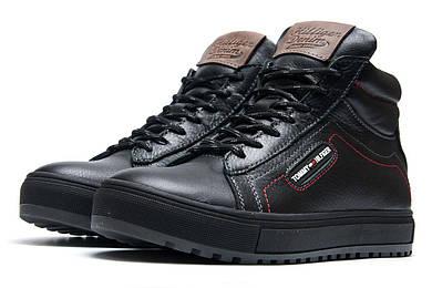 Зимние ботинки в стиле Tommy Hilfiger, черные (3841),  [  40 (последняя пара)  ]