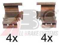 Комплектующие, колодки дискового тормоза, A.B.S. 1298Q