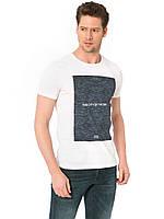 Белая мужская футболка LC Waikiki / ЛС Вайкики с надписью на груди The city by the bay