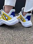 Кроссовки Louis Vuitton Archlight Sneakers Yellow. Живое фото. Топ реплика ААА+, фото 2