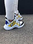Кроссовки Louis Vuitton Archlight Sneakers Yellow. Живое фото. Топ реплика ААА+, фото 3
