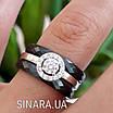 Серебряное кольцо Аморе с черной керамикой - Кольцо с керамикой серебро 925, фото 4