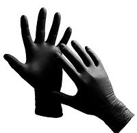 Перчатки CARE-365 Premium  нитрилова н / с неприпудрена черные, L 1/100 (пар). L.M.S