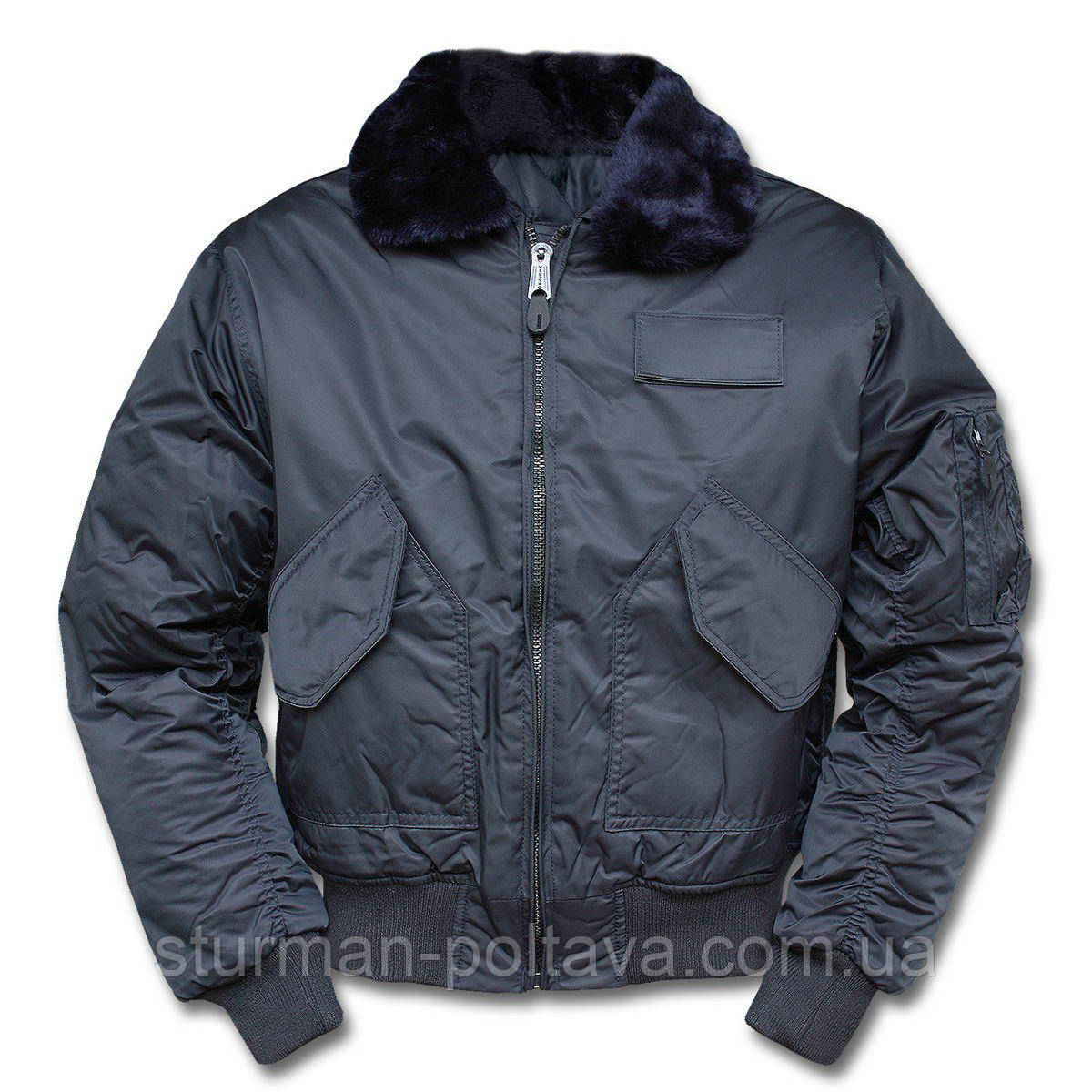 Куртка  мужская  лётная  зимняя    CWU-45 SWAT  JACKE M.ABNEHMB.  B15 цвет   синий    Mil-Tec Германия