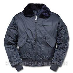 Куртка чоловіча льотна зимова CWU-45 SWAT JACKE M. ABNEHMB. B15 колір синій Mil-Tec Німеччина