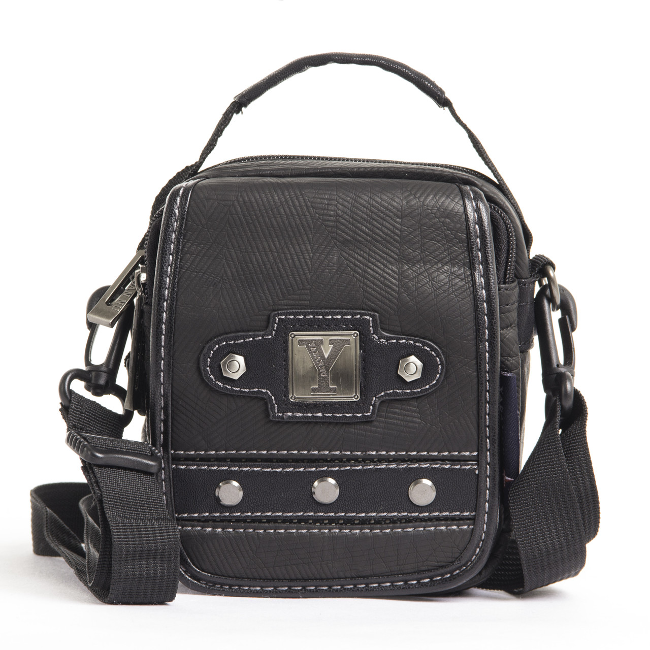 Сумка-кошелёк вертикальная, YADAN чёрная 13 х 16 х 5 ткань нейлон  кс1082