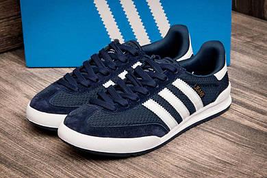Кроссовки мужские в стиле Adidas Jeans, темно-синий (2526-2),  [  44 45  ]