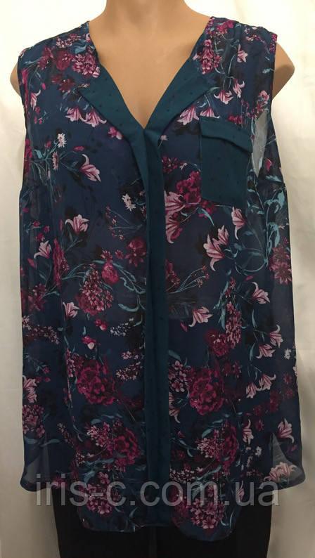 Женская блуза  из мягкого, тонкого шифона, очень большой размер 26