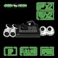 Комплект видеонаблюдения Green Vision GV-IP-K-L27/04 1080P