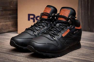 Зимние кроссовки в стиле Reebok Classik, черные (3206-2),  [  42 (последняя пара)  ]