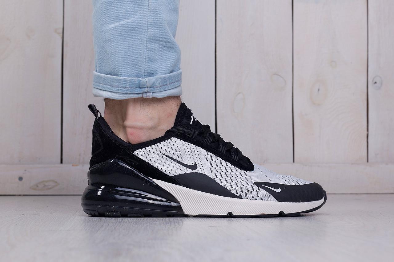 a1f65d70 Мужские летние кроссовки сетка Nike Air Max 270 white-black (найк аир макс)  (реплика)