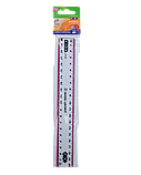 Линейка 20см пластиковая с цветной полоской, фото 2