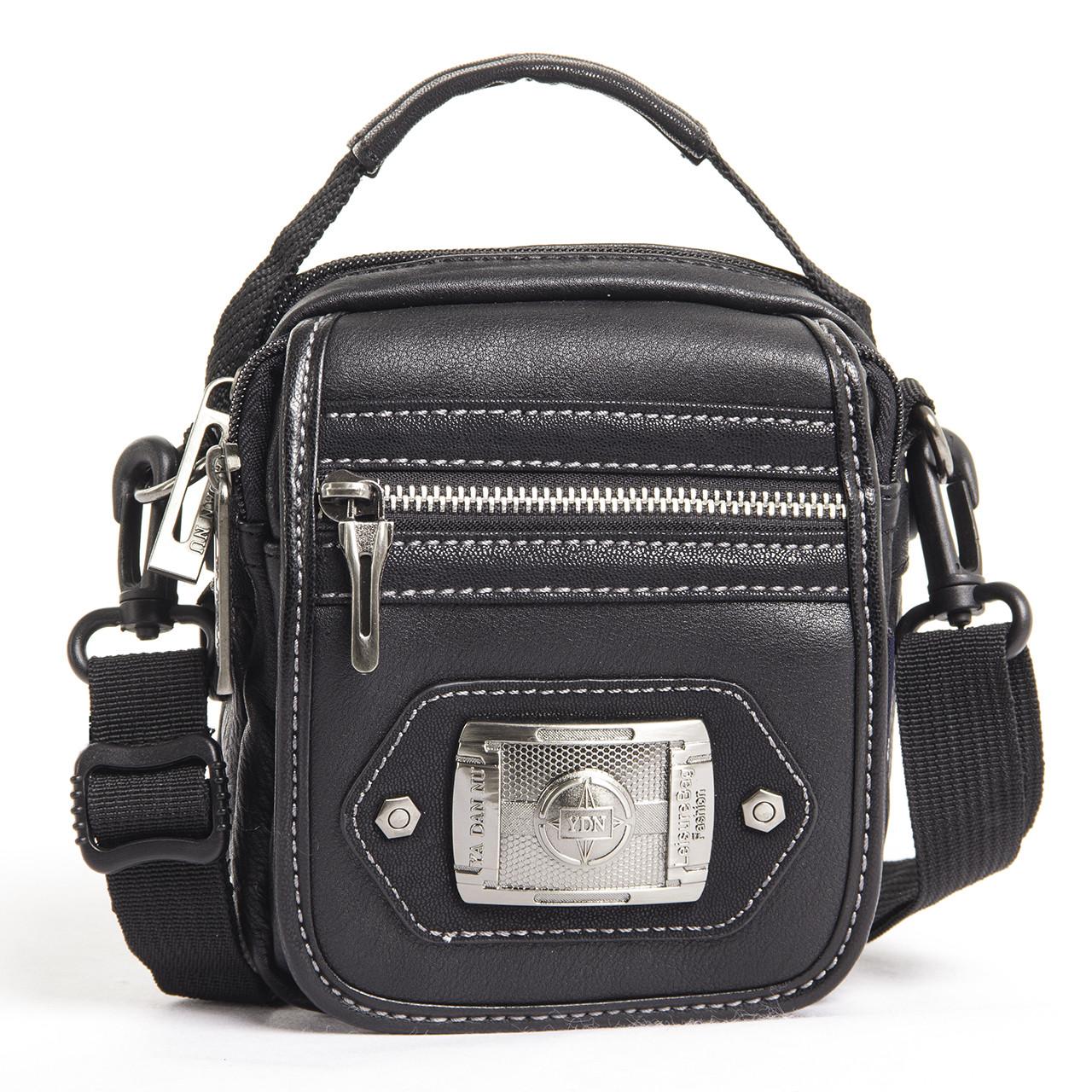 Сумка-кошелёк вертикальный чёрный YADAN 13х16х5  экокожа  кс1090