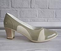 Бежевые лаковые туфли оптом, фото 1