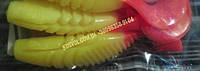 Rumba Плавающий твистер от Mann's (жёлтый с кр.плавниками)