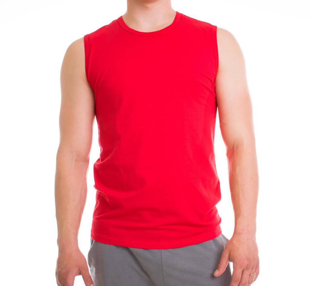 Bono Футболка мужская красная без рукавов 950122