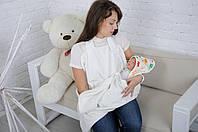 Полотенце Мамина забота, Веселые зверята, молочное ( полотенце для новорожденных )