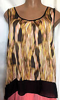 Блуза женская, большой размер, из легкого шелка с атласной поверхностью, размер 52\54, фото 1