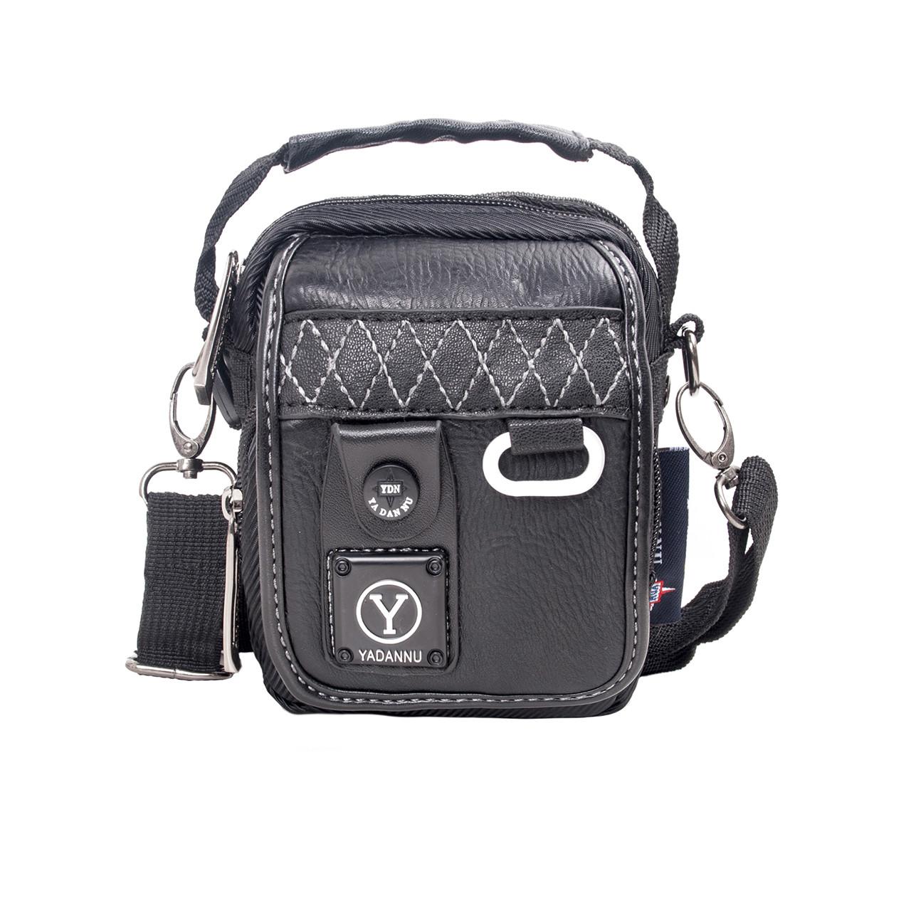 Сумка-кошелёк чёрный вертикальный YADAN 11х14х6 экокожа  кс1029