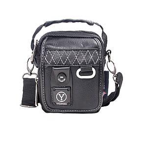 Сумка-кошелёк чёрный вертикальный YADAN 11х14х6 экокожа  кс1029, фото 2