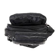 Сумка-кошелёк чёрный вертикальный YADAN 11х14х6 экокожа  кс1029, фото 3