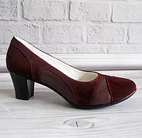 Замшевые туфли. цвет марсала., фото 1