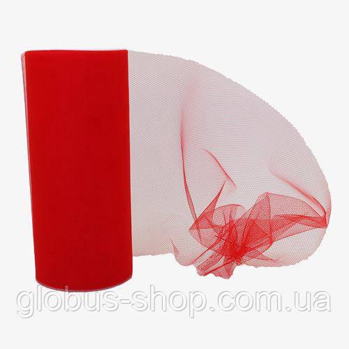 Фатин красный, мягкий