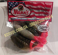 Rumba Плавающий твистер от Mann's (коричневый с кр.плавниками), фото 1