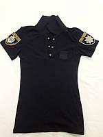 Тенниска ПОЛО полиции  ЖЕНСКАЯ(цвет черный)