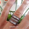 """Срібне кільце з чорним родієм і камінням """"Багет"""" - Кільце срібло 925, фото 3"""