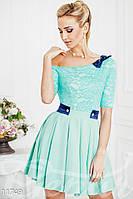 Платье на плечо с юбкой-солнцем