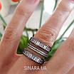 """Серебряное кольцо 3 дорожки с черным родием и камнями """"Багет"""" - Кольцо серебро 925, фото 7"""