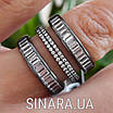 """Серебряное кольцо 3 дорожки с черным родием и камнями """"Багет"""" - Кольцо серебро 925, фото 5"""