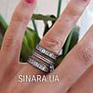 """Серебряное кольцо 3 дорожки с черным родием и камнями """"Багет"""" - Кольцо серебро 925, фото 4"""