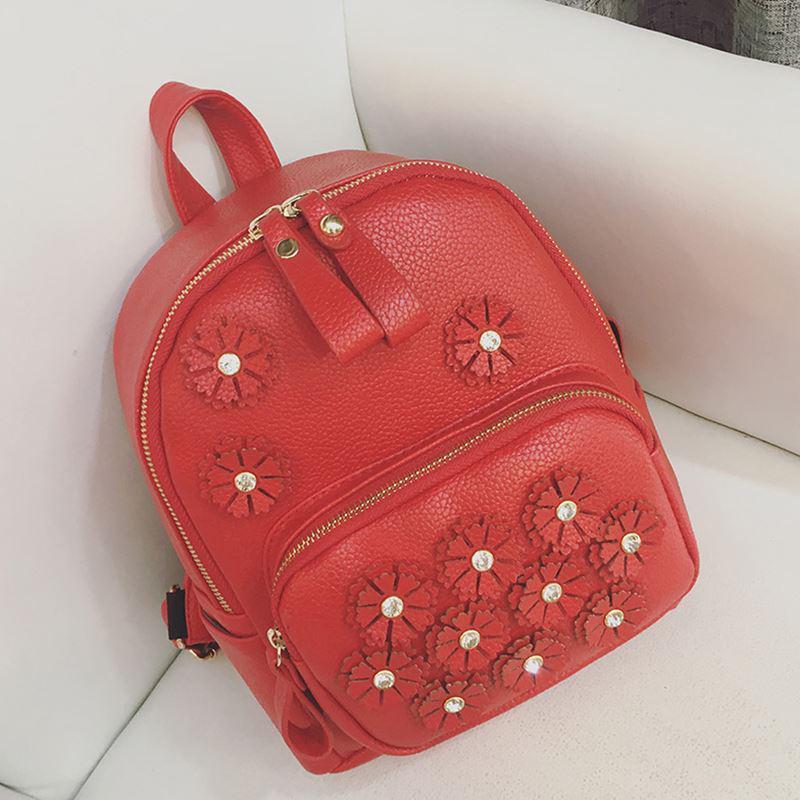 Яркий молодежный рюкзак Цветы