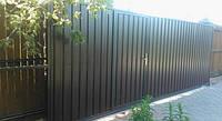 Откатные ворота 5000х2500 заполнение профлистом, фото 1