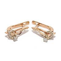 Золотые серьги с бриллиантами 1231148