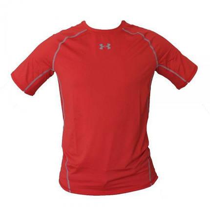 Спортивная футболка мужская Under Armour HeatGear Armour Short Sleeve Compression Shirt Red, фото 2