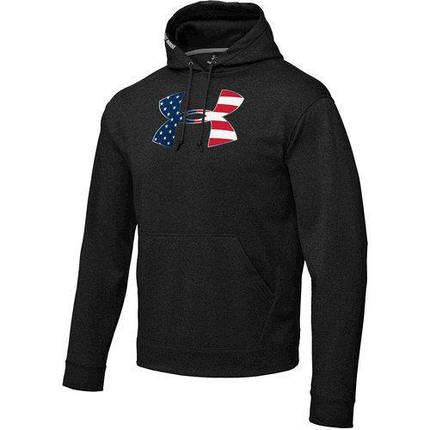 Толстовка мужская Under Armour Marine Big Flag Logo Hoody Black, фото 2