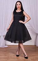 Изящное, женское платье с пышной юбкой классического кроя (хорошо держит форму, декор - жемчуг) РАЗНЫЕ ЦВЕТА