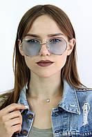 Солнцезащитные женские очки цветные голубые