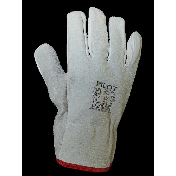 Перчатки защитные кожанные  Trident Pilot