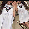Платье белое GUCCI чёрное тёмно синее