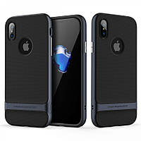 Чехол Rock Royce Series для iPhone X - Navy Blue, фото 1