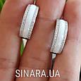 Серебряные серьги с керамикой - Серьги керамика серебро, фото 3