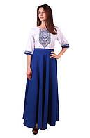 Чорне плаття з синьою ромбічною вишивкою  03bb677e1300c