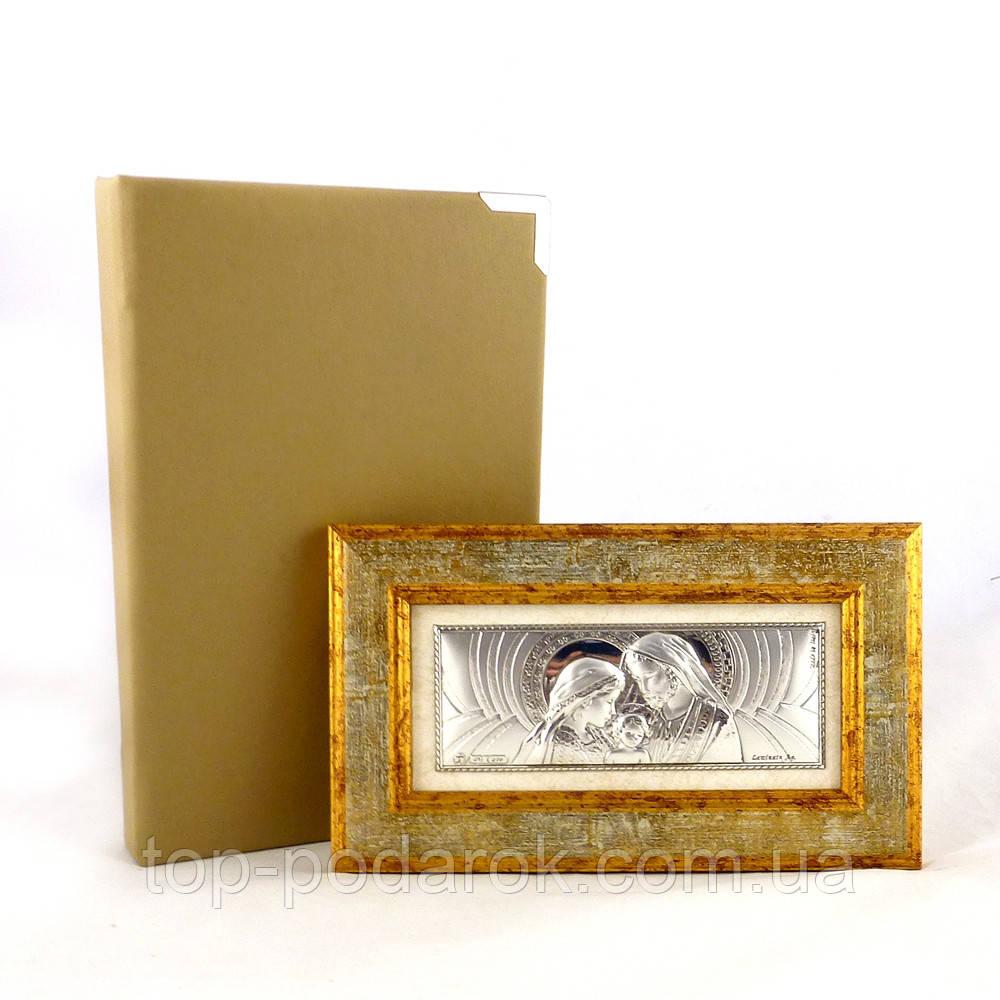 Образ Святое семейство в деревянно рамкей в шкатулке