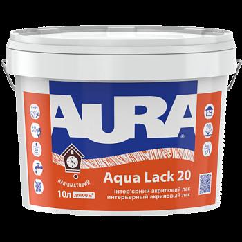 Водоразбавимый панельный интерьерный полуматовый лак AURA Aqua Lack 20, 2,5л, фото 2
