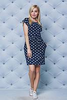 Женское летнее платье темно-синее, фото 1